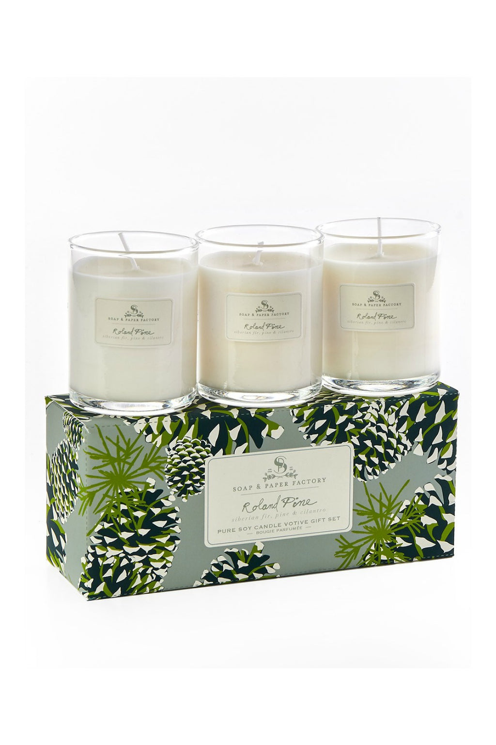 The Soap & Paper Company - Roland Pine Votive Candle Set