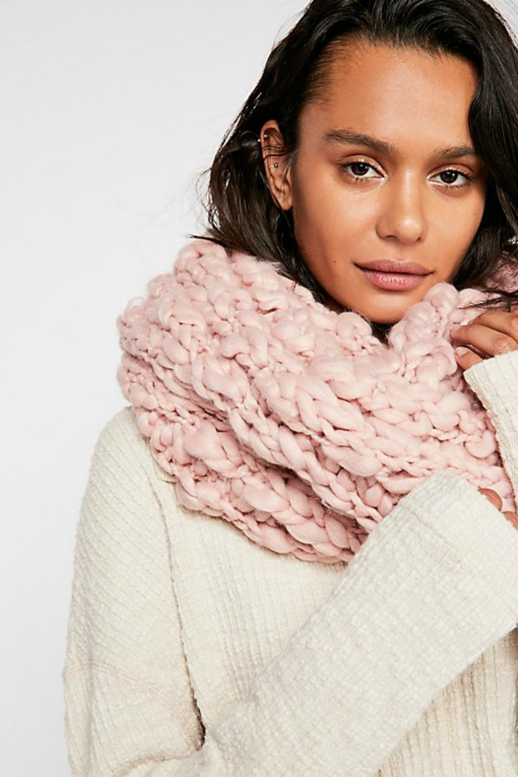 Free People Dreamland Chunky Knit Cowl Scarf