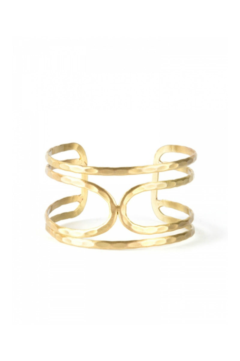 Mata Traders Echo Cuff in Gold