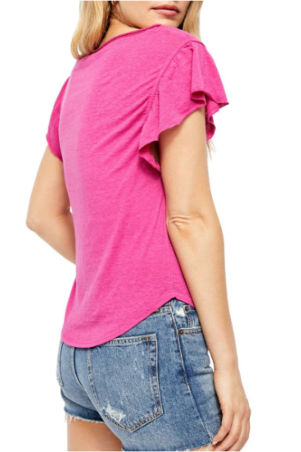 Free People Effortless Tee- Pink