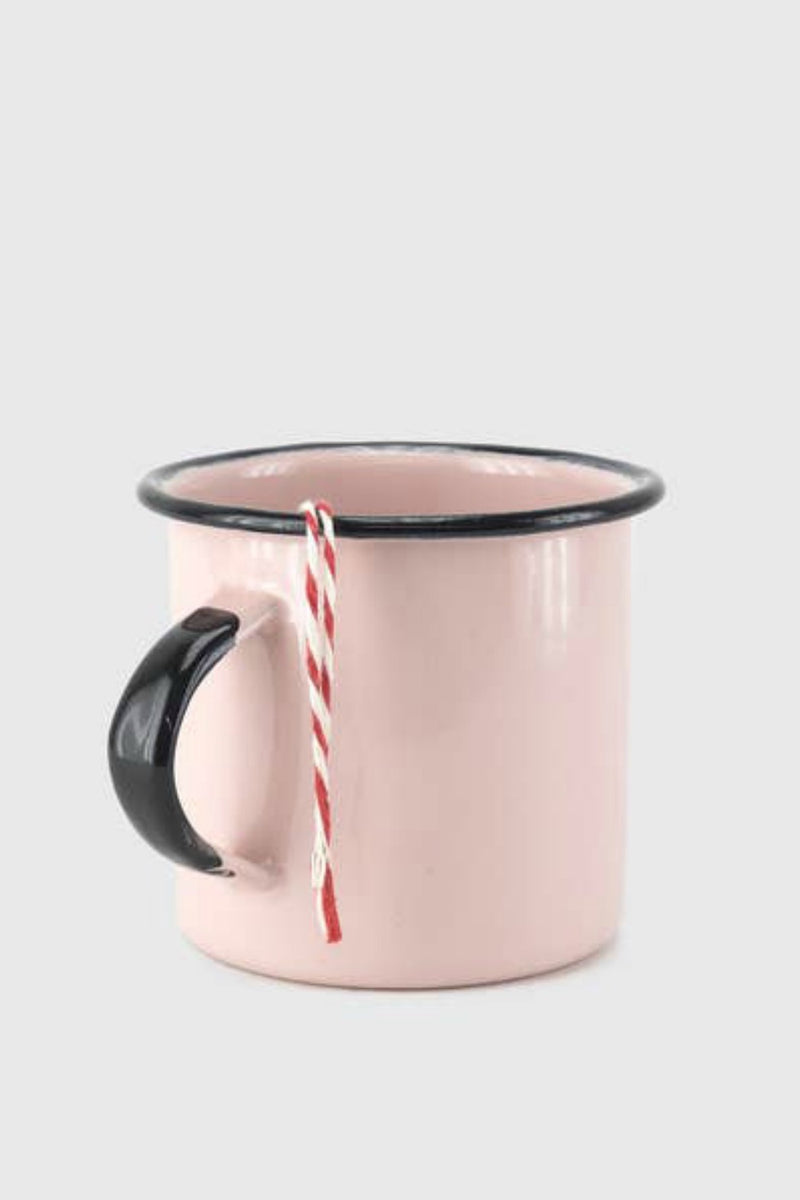 Enamel Coffee Cup- Rose