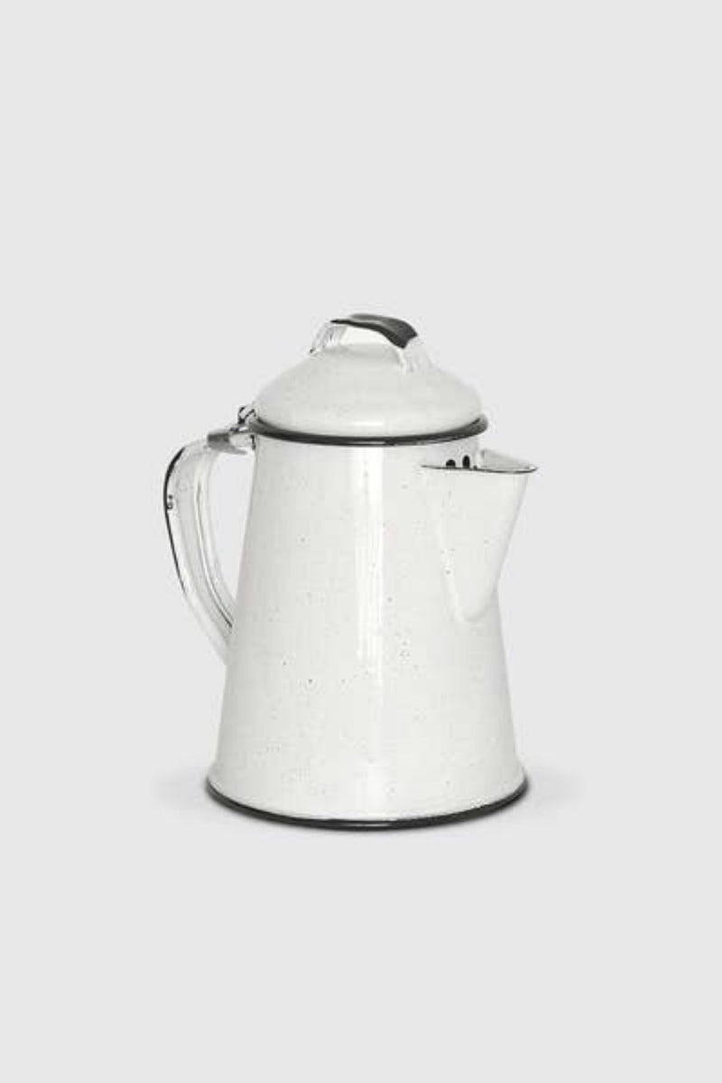 Enamel Coffee Pot- White