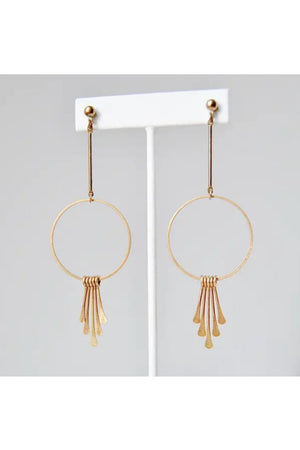 Boho Brass Earrings - Brass