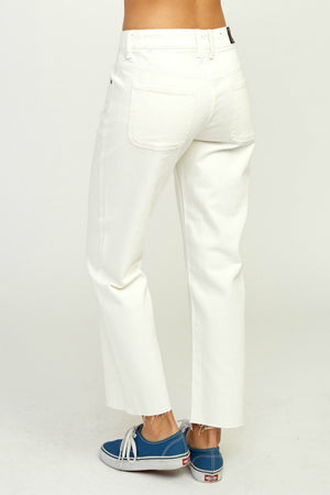 RVCA Filtered Straight Leg Pants in White