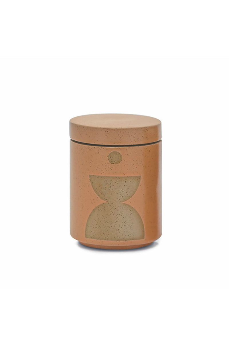 FORM 12 OZ BURNT SIENNA GLAZED CERAMIC WITH LID - WILD FIG & VETIVER