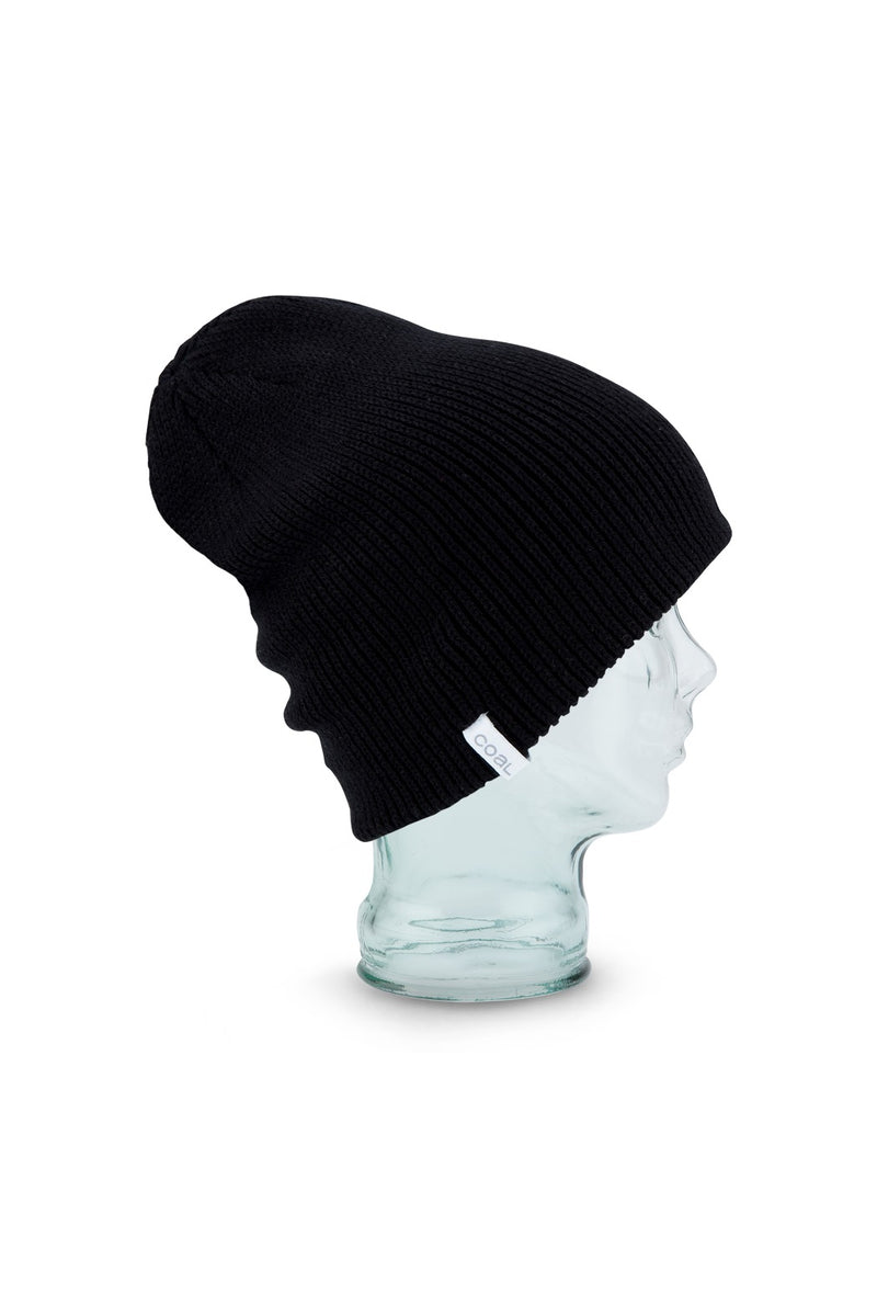 Coal Frena Solid Beanie in Black