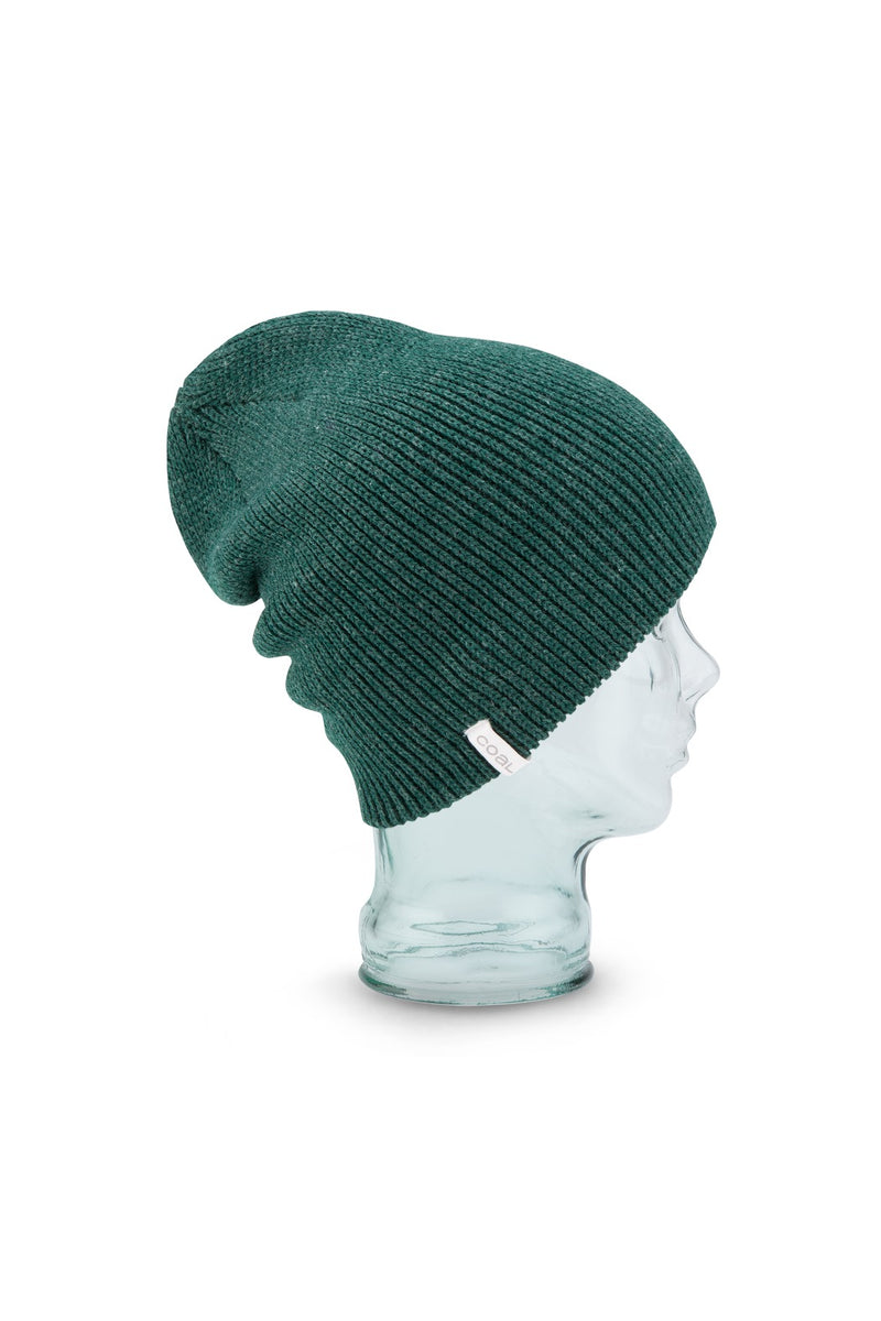 Coal Frena Solid Beanie - Heather Forest Green