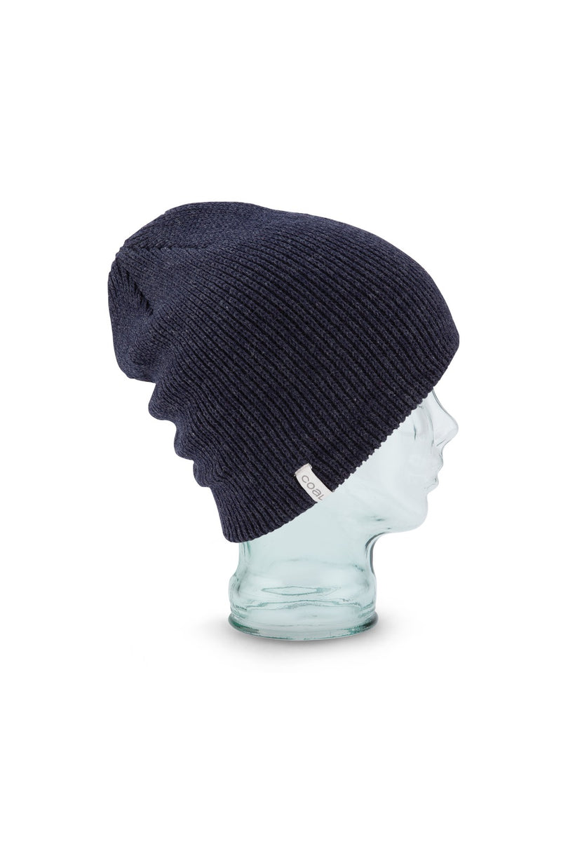 Coal Frena Solid Beanie in Heather Navy