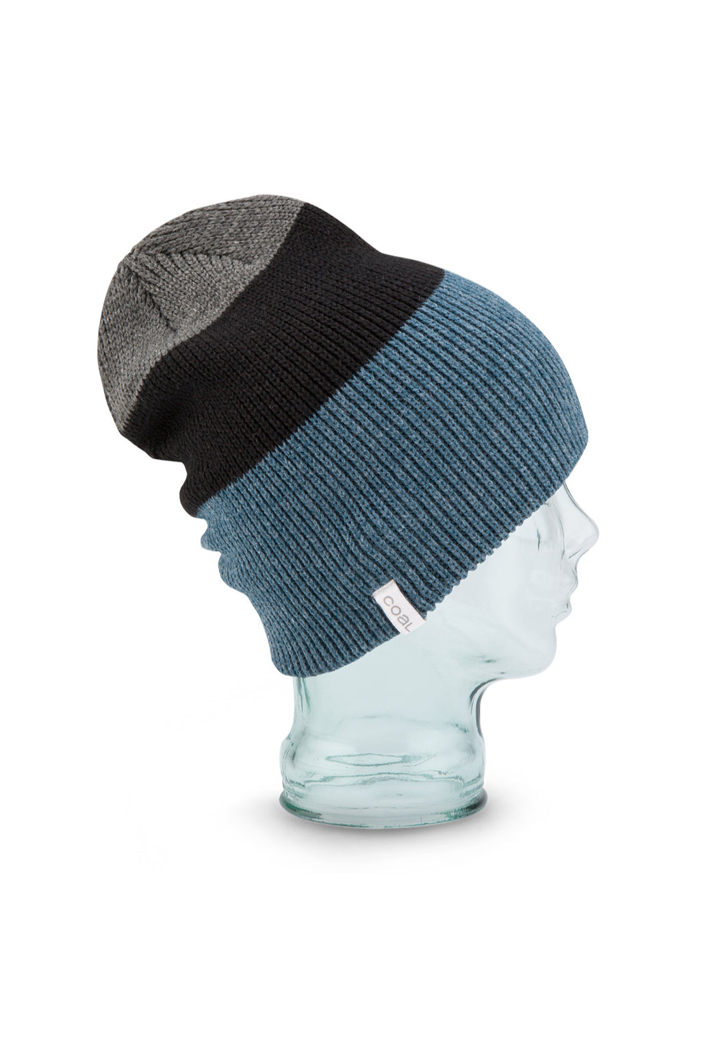 Coal Frena Beanie in Heather Slate Stripe