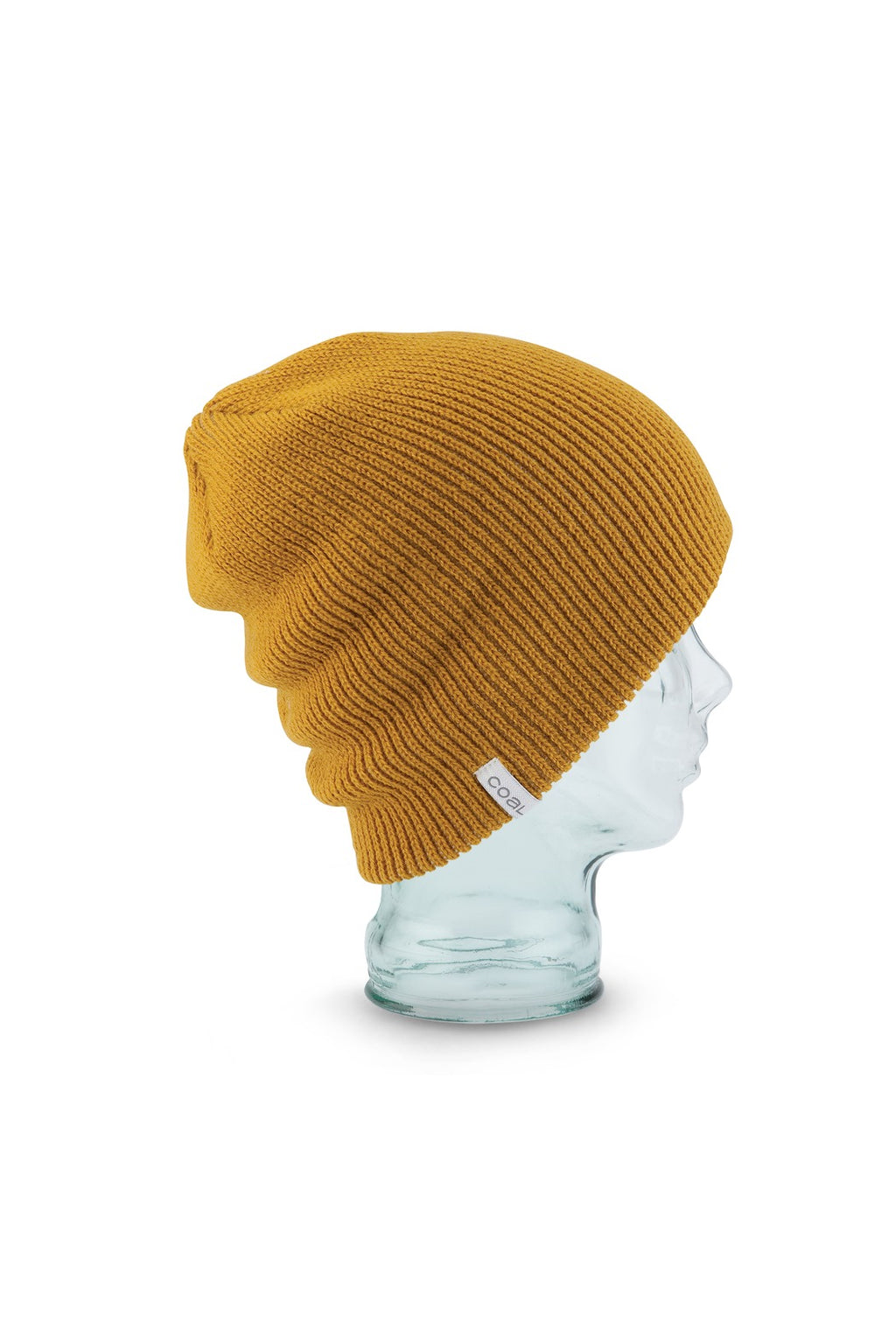 Coal Frena Solid Beanie in Mustard