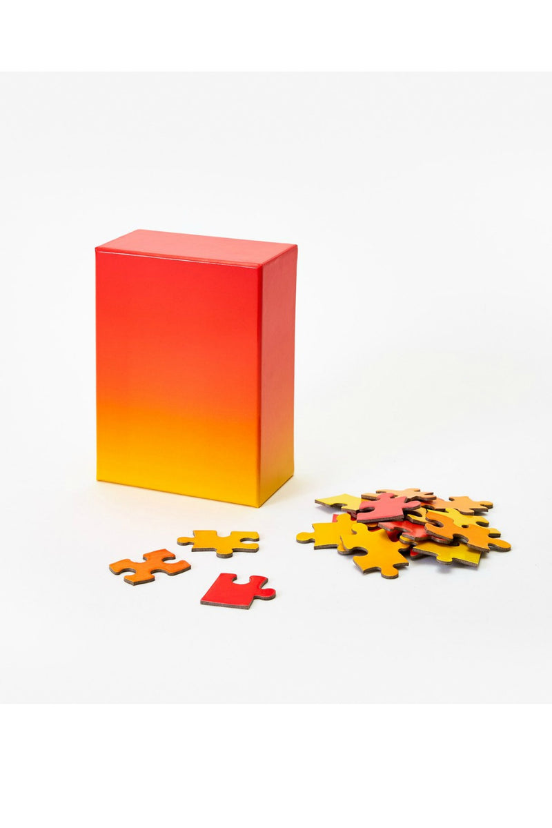 Bruce Wilner Small Gradient Puzzle Red + Yellow