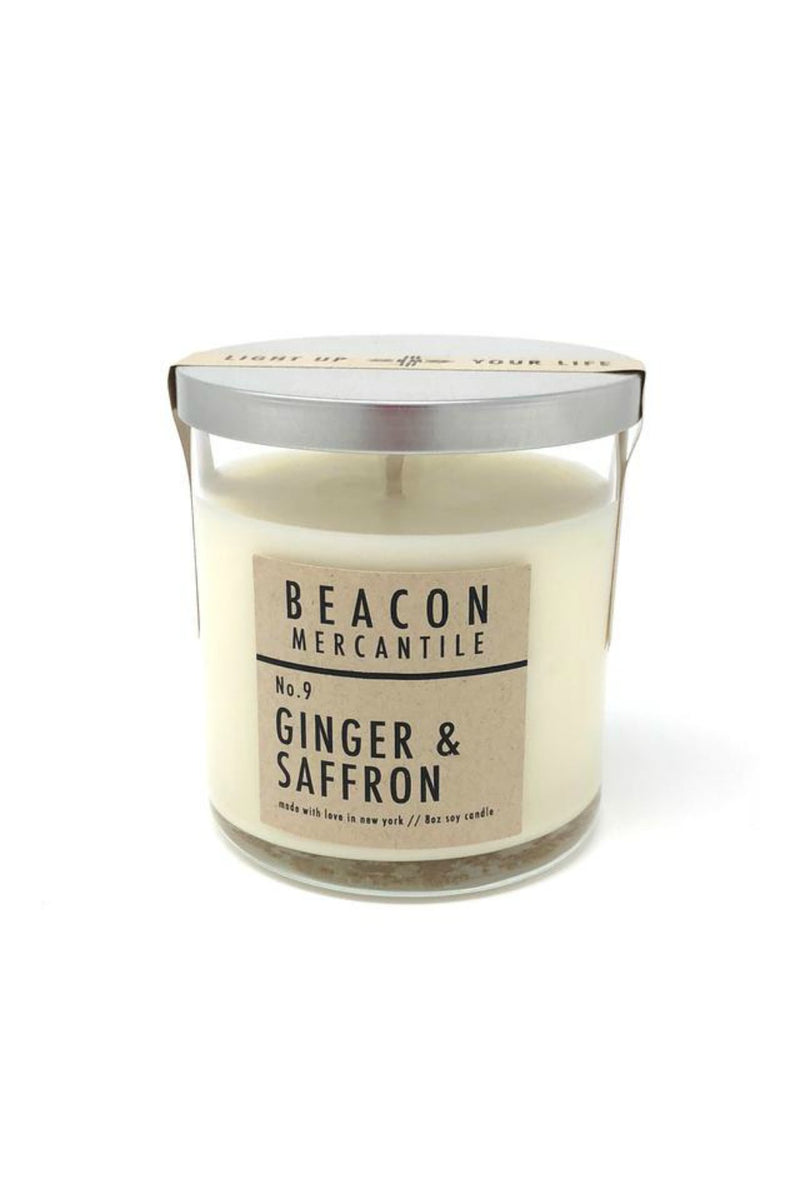 Beacon Mercantile 8.5 oz. Soy Candle - Ginger + Saffron