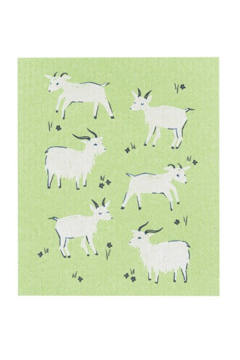Now Designs Swedish Dishcloth - Goats