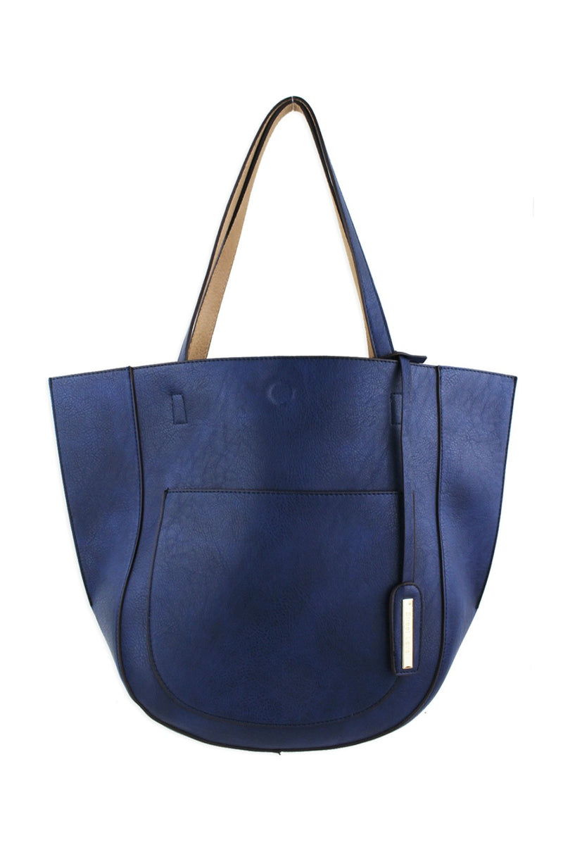 Street Level Half Moon Tote - Blue