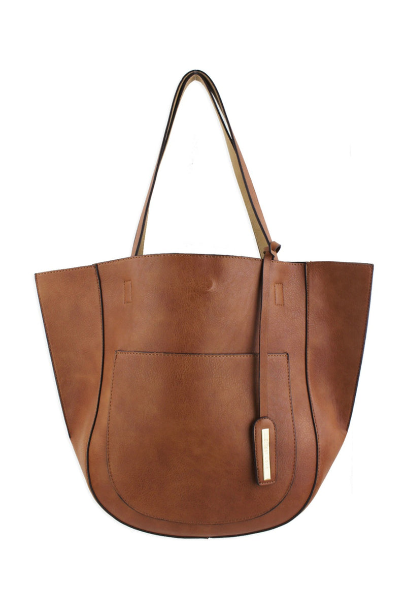 Street Level Half Moon Tote - Brown