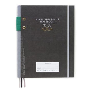 Designworks Ink Hardcover Fabric Spine Notebook - Black