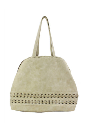 Street Level Jessica Perforated Tote - Ivory