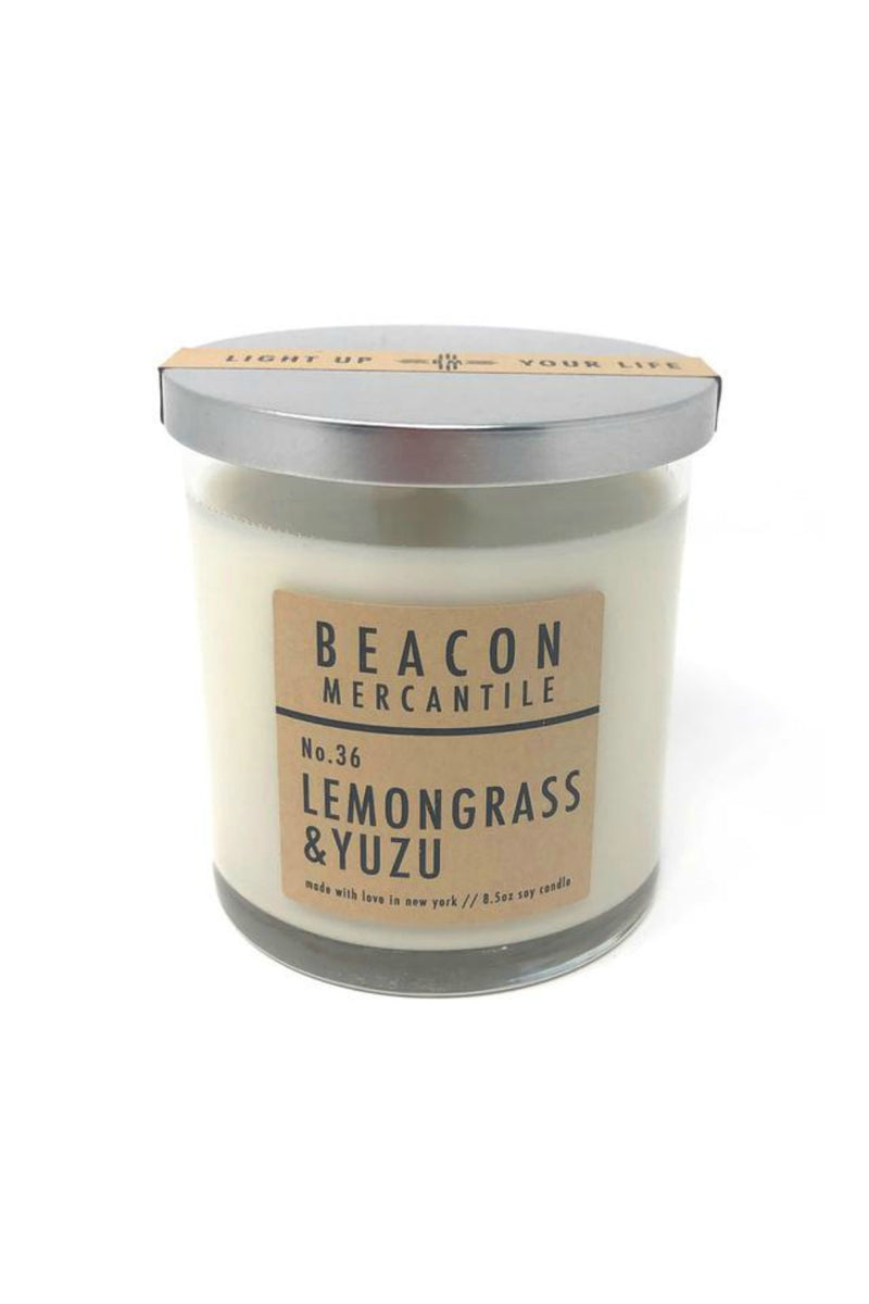Beacon Mercantile 8.5 oz. Soy Candle - Lemongrass + Yuzu