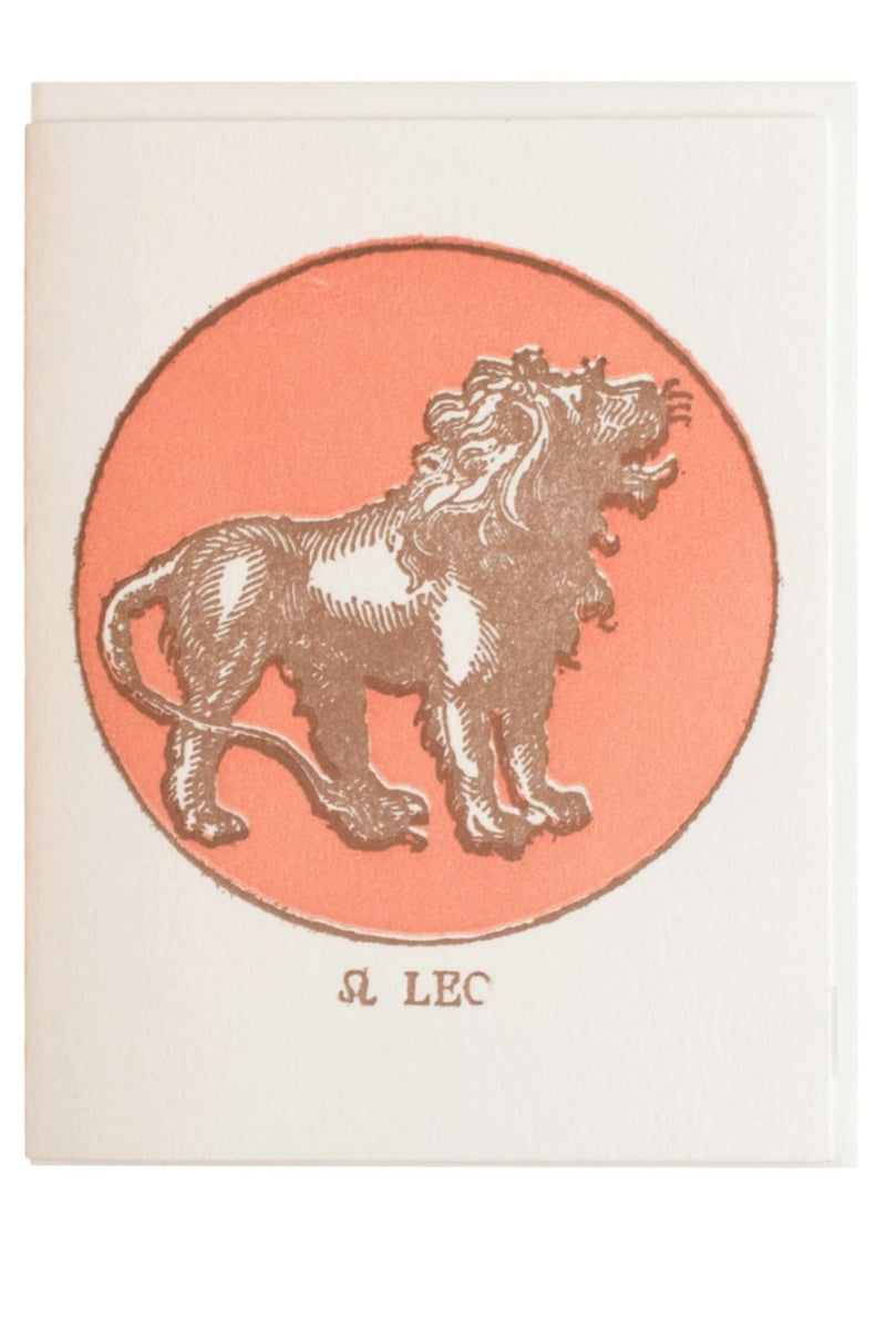 Margins Zodiac Card - Leo