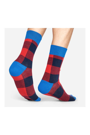 Happy Socks Lumberjack Socks - Medium Red