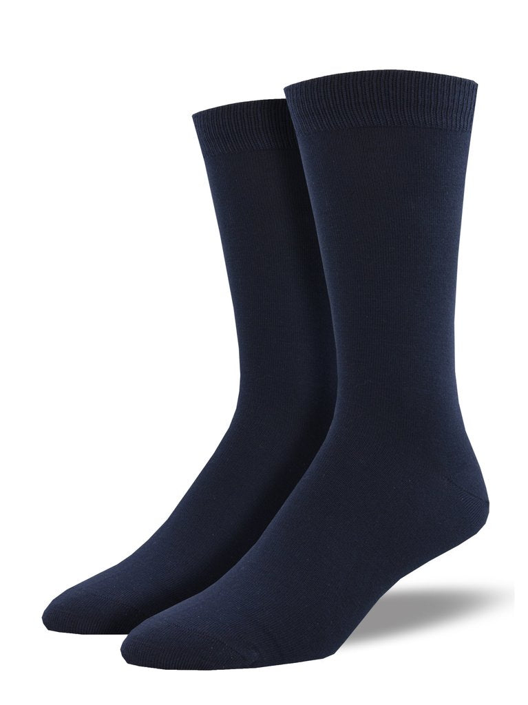 Socksmith Men's Bamboo Solid Socks - Navy