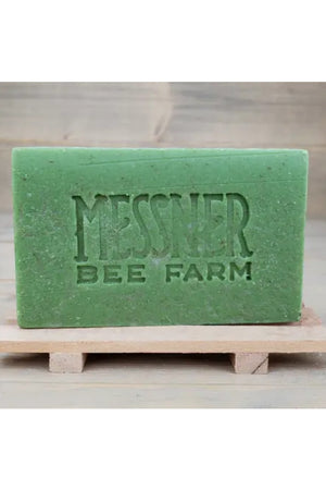 Messner Bee Farm Raw Honey and Beeswax Soap - Lemongrass and Hemp