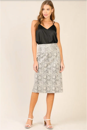 Madeline Midi Skirt- Cream/Black