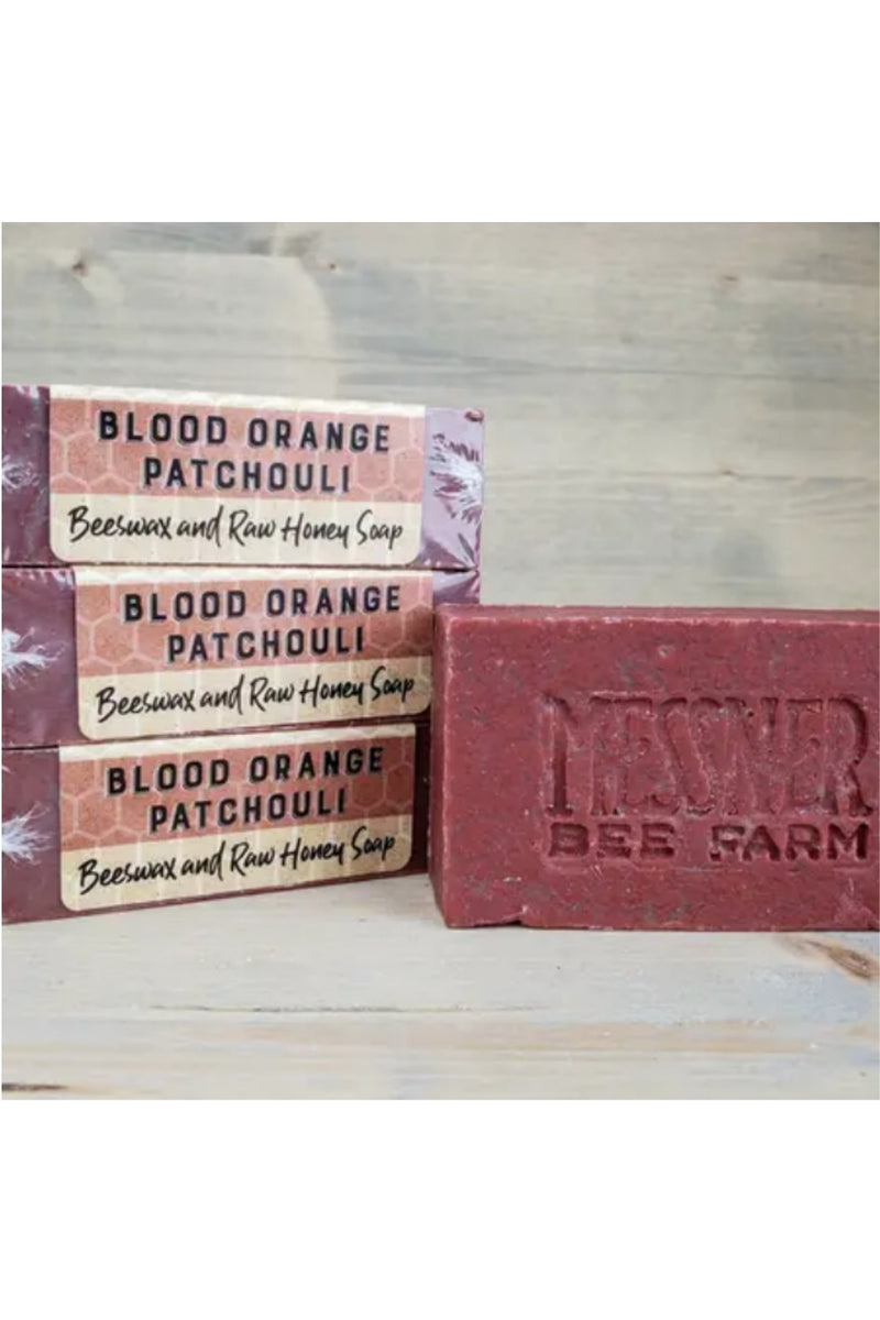 Messner Bee Farm Raw Honey and Beeswax Soap - Blood Orange Patchouli