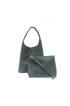 Joy Susan Molly Slouchy Hobo Bag - Dark Chambray