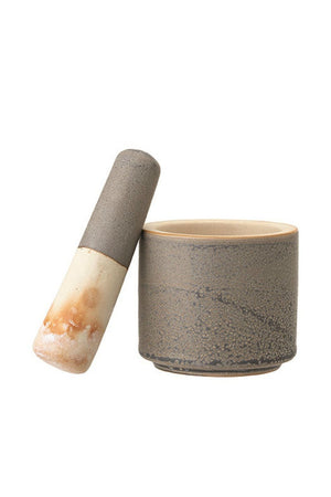 Bloomingville Stoneware Mortar & Pestle
