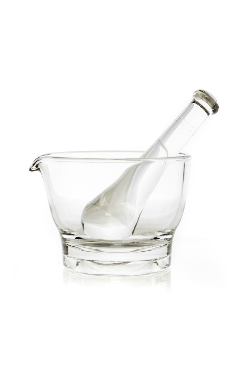 Mosser Glass Mortar & Pestle in Crystal