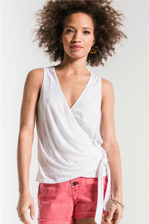 Z Supply Muse Wrap Tank in White