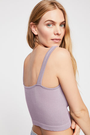 Free People Solid Rib Brami in Lavender