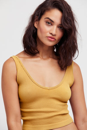 Free People Solid Rib Brami in Yellow