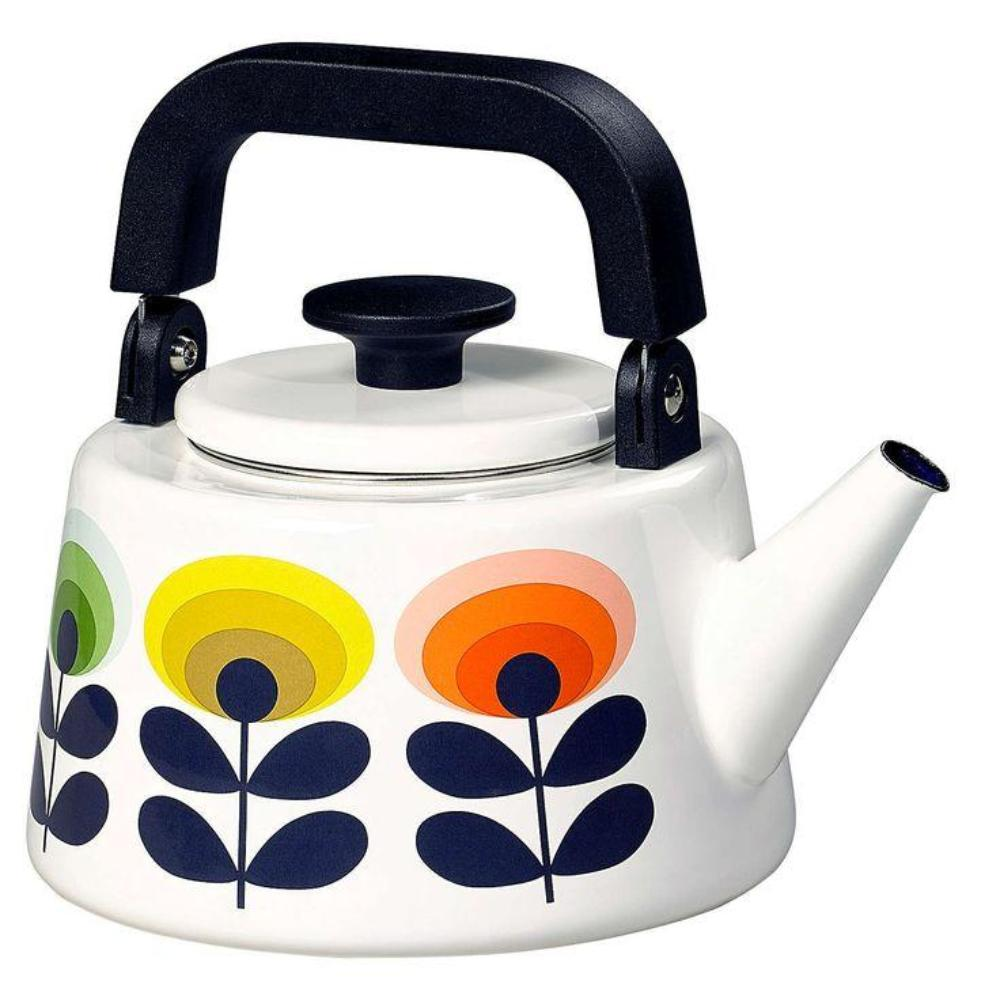 Orla Kiely 70's Oval Flower Enamel Tea Kettle