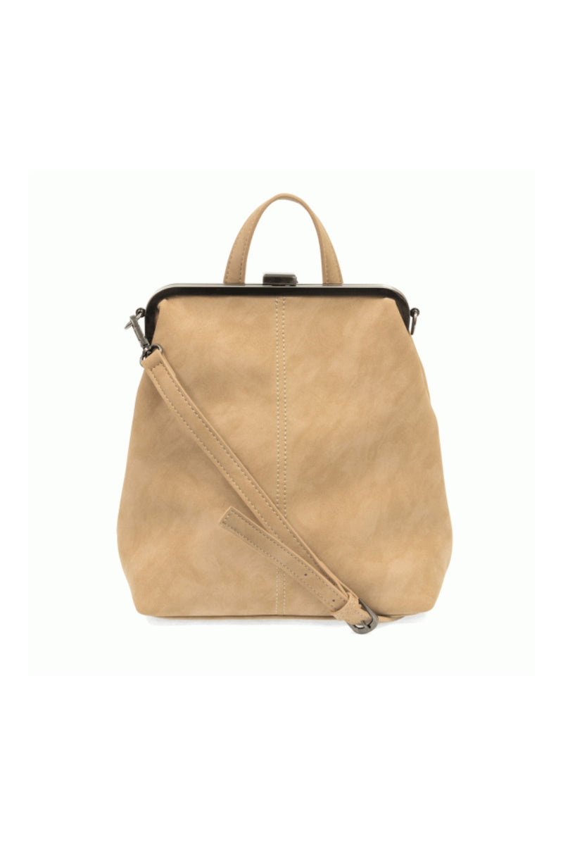 Joy Susan Phyllis Nubuck Convertible Backpack - Ivory