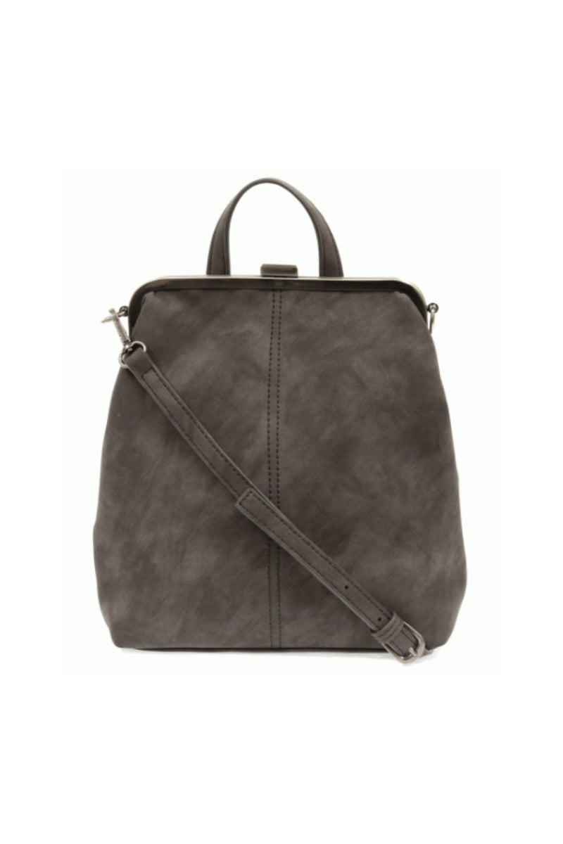 Joy Susan Phyllis Nubuck Convertible Backpack - Charcoal