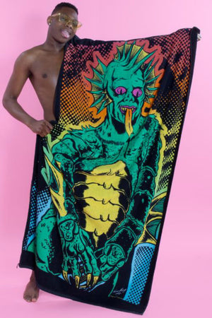 Pretty Snake Gill-Man Beach Towel