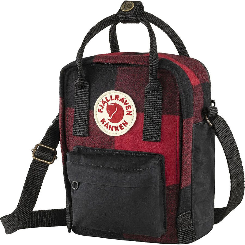 Fjällräven Kanken Re-Wool Sling - Red/Black