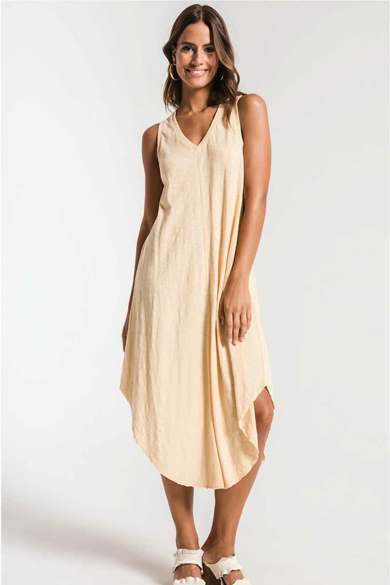Z Supply The Reverie Dress in Yellow Cream