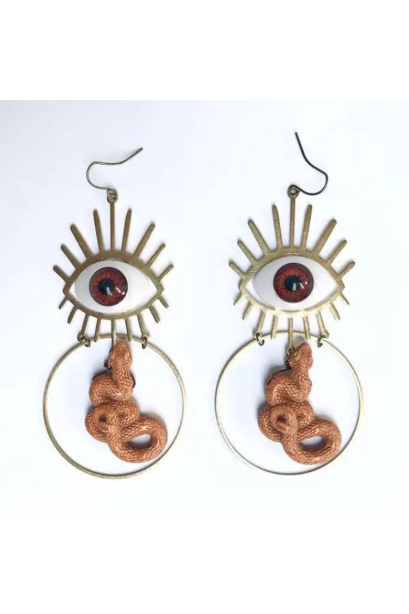 Odyssey & Oddities  Snake Eyes Earrings