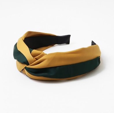 Gold + Hunter Green Headband