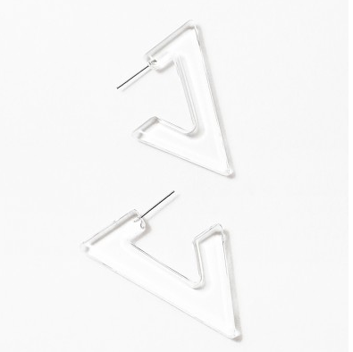 Lucite Geometric Hoops