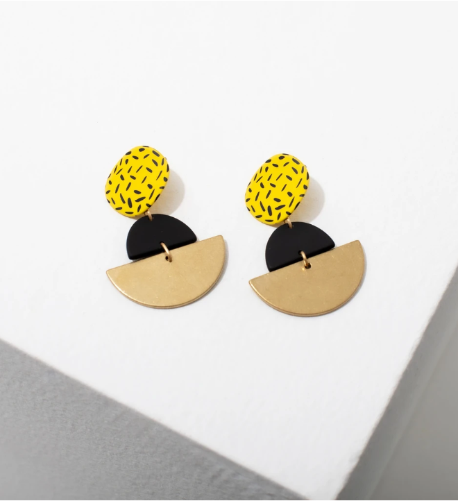 Larissa Loden Kiki Earrings in Yellow