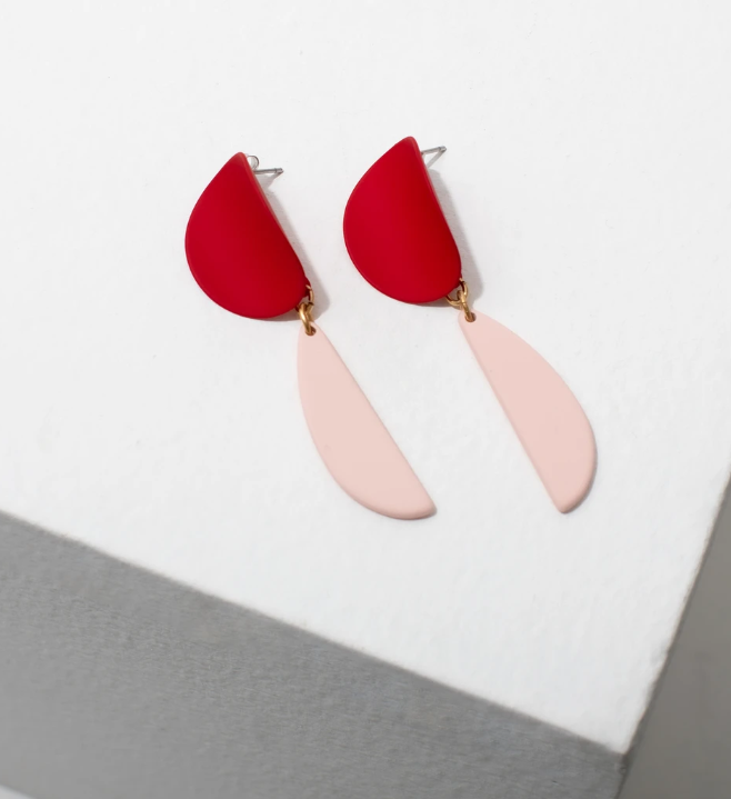 Larissa Loden Yayoi Earrings in Red