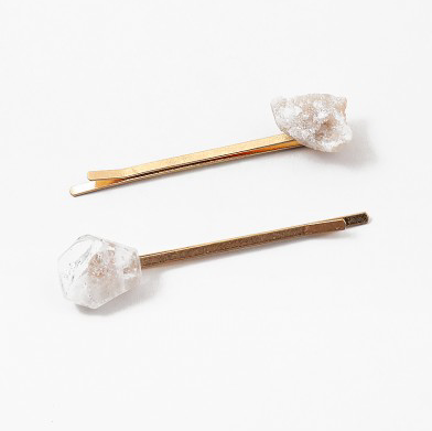 Gold + Clear Hair Pin Set
