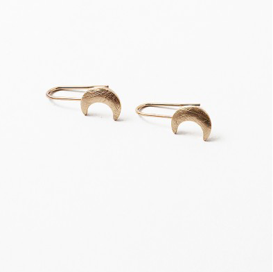 Drop Boon Earrings - Brushed Gold