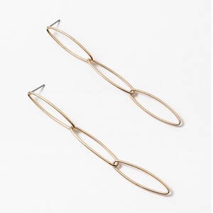Oval Link Earrings - Gold