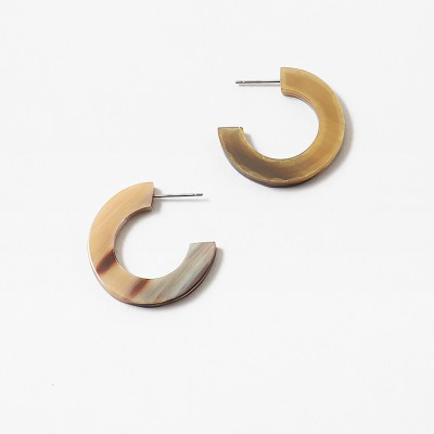 Natural Horn Hoops