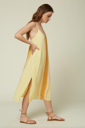 O'Neill Avana Stripe Dress - Citrus Shock